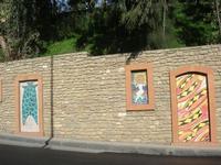 Giardino Pubblico Vittorio Emanuele - maiolicato sul muro esterno - 5 dicembre 2010 CALTAGIRONE LIDI