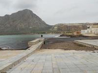 il porticciolo è invaso dalle alghe - all'orizzonte il Monte Cofano e cave di marmo di Custonaci - 17 gennaio 2010   - Cornino (2005 clic)
