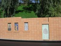 Giardino Pubblico Vittorio Emanuele - maiolicato sul muro esterno - 5 dicembre 2010  - Caltagirone (1484 clic)