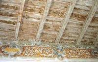 Castello medievale - particolare del soffitto in legno di uno dei saloni  - 21 marzo 2010    - Caccamo (6470 clic)