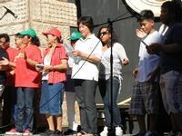 Spettacolo multietnico UNA SOLA FAMIGLIA UMANA nel cortile del Collegio dei Gesuiti - 19 giugno 2011  - Sciacca (575 clic)