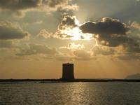 Torre di Nubia e tramonto alle saline - 13 novembre 2011   - Nubia (544 clic)