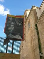 per le vie di Caltagirone - cartello dell'Opera dei Pupi - 4 dicembre 2010 CALTAGIRONE LIDIA NAVARRA