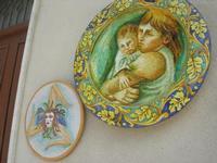 Piazza dei Caduti - ceramiche - artigianato locale - 21 marzo 2010  - Caccamo (3820 clic)