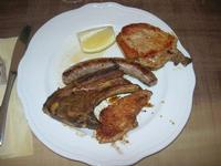 secondo: arrosto misto: arrosto panato, salsiccia, castrato, pancetta - 1 maggio 2010  - Santa ninfa (5781 clic)