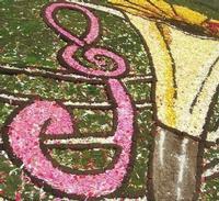 Infiorata 2010 - Bozzetti ispirati al tema: Musica dipinta: le forme e i colori della musica - RADEYZKY IN SOUND - particolare - Via Nicolaci - 16 maggio 2010  - Noto (2406 clic)