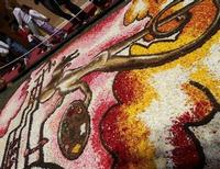 Infiorata 2010 - Bozzetti ispirati al tema: Musica dipinta: le forme e i colori della musica - ARIA FRA LE NUVOLE - Via Nicolaci - 16 maggio 2010  - Noto (2667 clic)