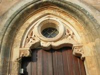 ingresso laterale Santuario Maria SS. di Custonaci - particolare - 5 settembre 2010  - Custonaci (1993 clic)
