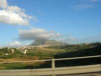 la città ed il monte Bonifato - panorama dall'autostrada A29 Palermo-Mazara del Vallo - 2 giugno 201