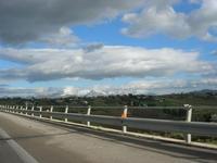 panorama dall'autostrada A-29 TP-PA - monti di Palermo innevati - 17 dicembre 2010 ALCAMO LIDIA NAVA