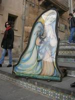 Scala Santa Maria del Monte - presepe - particolare - 4 dicembre 2010 CALTAGIRONE LIDIA NAVARRA