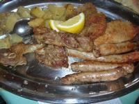 secondo: arrosto misto con contorno di patate - pranzo in agriturismo - 21 marzo 2010   - Cerda (7036 clic)