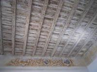 Castello medievale - interno: il soffitto in legno di uno dei saloni - 21 marzo 2010    - Caccamo (7123 clic)