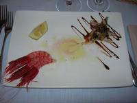 antipasto di mare: gamberi marinati e alici primavera - da Liborio - 22 agosto 2010  - Castellammare del golfo (2660 clic)