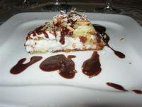 dolce della casa: torta di ricotta con cioccolata fondente e mandorle pralinate - La Bettola - 19 settembre 2010  - Mazara del vallo (3231 clic)