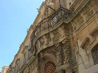 Corso Vittorio Emanuele -  balcone barocco - 16 maggio 2010  - Noto (2095 clic)