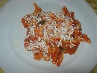 busiate alla Norma, con pomodoro, melanzane e ricotta salata - Il Quadrifoglio - 24 ottobre 2010  - Santa ninfa (2315 clic)