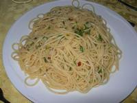 spaghetti aglio, olio e peperoncino - Quadrifoglio - 6 marzo 2011  - Santa ninfa (1650 clic)