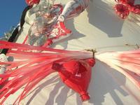 albero di Natale realizzato con materiale riciclato - particolare - Piazza Angelo Scandaliato - 6 gennaio 2011  - Sciacca (1888 clic)