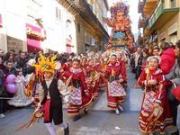 111ª edizione del Carnevale di Sciacca - sfilata corteo mascherato e dei gruppi dei carri allegorici - 6 marzo 2011  - Sciacca (1417 clic)