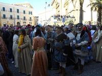 111ª edizione del Carnevale di Sciacca - sfilata corteo mascherato e dei gruppi dei carri allegorici - 6 marzo 2011  - Sciacca (1379 clic)