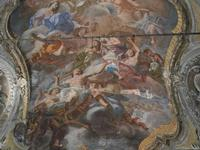 Chiesa SS. Matteo e Mattia Apostoli o Chiesa di San Matteo al Cassaro - interno: affresco di Vito D'