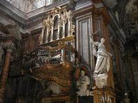 Chiesa SS. Matteo e Mattia Apostoli o Chiesa di San Matteo al Cassaro - interno - la cantoria dai pr