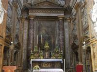 Chiesa SS. Matteo e Mattia Apostoli o Chiesa di San Matteo al Cassaro - interno - l'altare maggiore