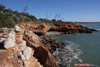 tratto di scogliera dopo una mareggiata  - Cava d'aliga (2676 clic)
