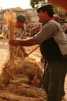 A Raddusa, piccolo centro agricolo dell'entroterra siciliano ogni anno a settembre si svolge la festa del Grano. Rivisitazione dell'antica pisatura la spagliatura per separare i preziosi chicchi di grano dalla paglia delle spighe.  - Raddusa (6808 clic)