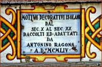 Particolare della scalinata CALTAGIRONE Giuseppe Cirignotta