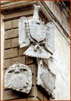 Particolare architettonico, stemmi araldici  - Caltagirone (1844 clic)