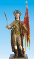 Catenanuova, San Prospero martire patrono della Città, statua lignea di ignoto autore del 1752, festa ultima domenica di settembre.  - Catenanuova (1874 clic)