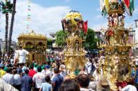 Misterbianco 5 agosto 2007 - Festa Grande del Patrono Sant'Antonio Abate, la processione arriva in piazza del Carmine.  - Misterbianco (1680 clic)