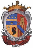 Catenanuova, lo stemma dei Principi Riggio-Saladino e Statella-Paternò, fondatori della Città intorno al 1727-1733; si trova scolpito in bassorilievo nel fonte battesimale e dipinto nella base del simulacro della Madonna delle Grazie, entrambi in Chiesa Madre.  - Catenanuova (5338 clic)