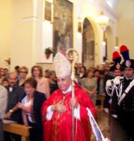 Domenica 30 settembre 2007 - la Festa di San Prospero martire Patrono di Catenanuova, Mons. Luigi Bommarito Arcivescovo Metropolita Emerito di Catania, in Chiesa Madre per la celebrazione Eucaristica. (Foto concessa dal carissimo Riccardo Spoto)  - Catenanuova (2732 clic)