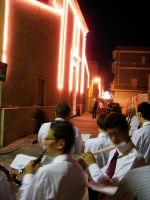 Domenica 30 settembre 2007 - la Festa di San Prospero martire Patrono di Catenanuova, la Chiesa Madre mentre la banda musicale intona l'inno a San Prospero. (Foto concessa dal carissimo Riccardo Spoto)  - Catenanuova (1995 clic)