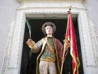 Domenica 30 settembre 2007 - la Festa di San Prospero martire Patrono di Catenanuova, particolare dell'artistico simulacro ligneo di ignoto autore del 1752, che si porta in processione ogni anno l'ultima domenica di settembre. (Foto concessa dal carissimo Riccardo Spoto)  - Catenanuova (1938 clic)