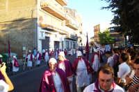 Troina 15 luglio 2007 - Festa di Sant'Antonio Abate, la confraternita del Santo precede il fercolo in processione.  - Troina (2193 clic)