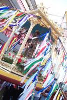 Troina 15 luglio 2007 - Festa di Sant'Antonio Abate, particolare del fercolo in processione.  - Troina (1927 clic)
