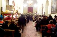 Catenanuova, Venerdì Santo - il rientro dei due simulacri in Chiesa Madre a notte fonda. (Foto concessa dal carissimo Nicolò Fiorenza)  - Catenanuova (1577 clic)