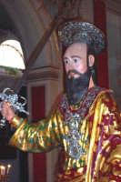 Palazzolo Acreide (SR) - 29 giugno 2007 festa di San Paolo Apostolo Patrono della Città, particolare dell'artistico simulacro ligneo del Santo.  - Palazzolo acreide (2262 clic)