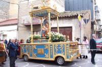 Catenanuova - festa di San Giuseppe 19 marzo 2007, particolare dell'artistica vara lignea con il simulacro del Santo  - Catenanuova (1582 clic)