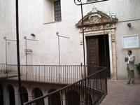 Cappella. Portale. Imgresso alla cappella. Foto peppino carollo   - Castelbuono (4478 clic)