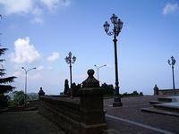 controluce piazzale davanti il santuario di Gibilmanna.foto di peppino carollo  - Gibilmanna (6435 clic)