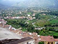 Veduta dal balcone del castello. Panoramica sulla zona di Pedagne e Santuzza.   - Castelbuono (1822 clic)