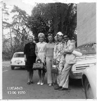 LUGANO 1970          (Foto di Bruno Marino)  CON MOGLIE E PARENTI VARII A LUGANO 1970  - Ragusa (3460 clic)