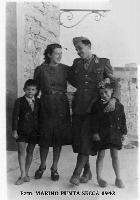 PUNTA  SECCA  1942       (Foto di Bruno Marino) Famiglia Marino a PUNTA SECCA anno 1942  - Punta secca (5153 clic)
