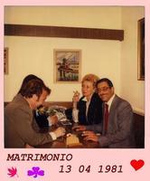 SESONDO  SI'   1981      (Foto di Bruno Marino)  MIO SECONDO MATRIMONIO.QUATTRO PAROLE IN TEDESCO-