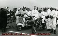MILANO AUDAX  1960      Foto di Bruno Marino)  RADUNO AUDAX IN MILANO 28/02/1960  - Ragusa (3330 clic)